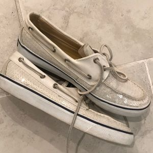 Sperry Shoes - Sperry top sider sequin flats size 8